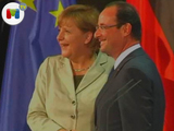 Accidentado encuentro Hollande-Merkel